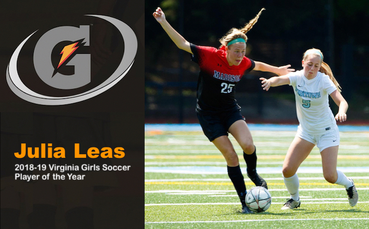 Julia Leas Named Gatorade Virginia State Player of the Year